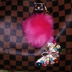 Beautiful keychain handbag charm